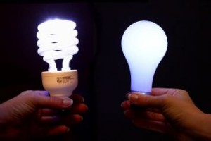 comparing light bulbs