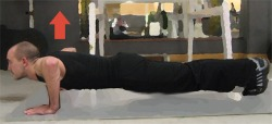 man doing pushup demo