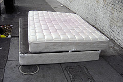 used mattresses on street