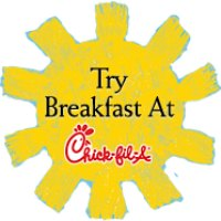 try breakfast at chick-fil-a sign