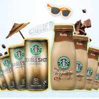 starbucks espresso doubleshot and frappuccino coffee drink