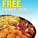 panda express free entree item coupon